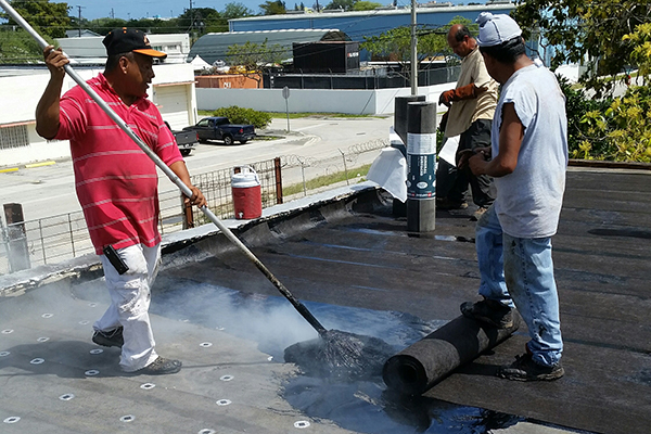 Flat Shingle Tile Asphalt Roof Repair By Dan Tennis Roofing